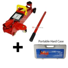Industrial Grade Heavy Duty Portable 2 Ton Hydraulic Floor Jack with Blow Molded Case