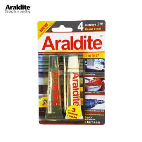 ARALDITE Rapid Steel 4 Minutes Epoxy Adhesive Glue (Black White) 15ml