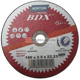 7'' Norton Cutting Disc (180 x 2.5 x 22.23 mm A24TBF 41)