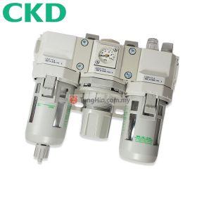 "CKD C3000-10 FRL Integrated Air Filter Regulator and Lubricator 3/8"""