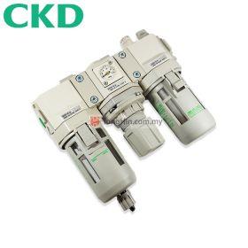 "CKD C3000-8 FRL Integrated Air Filter Regulator and Lubricator 1/4"""