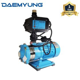 DAEMYUNG DCH2-30 Stainless Steel Domestic Water Pump with Auto Pressure Control 1""