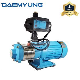 DAEMYUNG DCH4-40 Stainless Steel Domestic Water Pump with Auto Pressure Control 1""