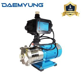 """DAEMYUNG DSH2-40 Stainless Steel Domestic Water Pump with Auto Pressure Control 1"""""""