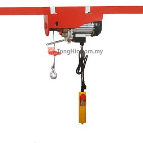 Mini Electric Wire Rope Hoist PA500 250/500kg with Double Hook and Wire