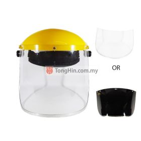 Face Shield Visor Yellow Set (With Bracket) Clear/Black Screen