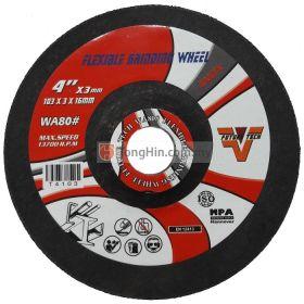 "FUTURE-TECH 4"" Flexible Grinding Disc 103 x 3.0 x 16mm Stainless Steel Inox"