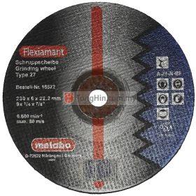 9'' Metabo Grinding Disc 16572 (230 x 6.0 x 22.2 mm A24NBF) (For Steel)