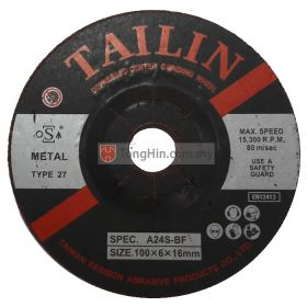 4'' Tailin Grinding Disc (100 x 6.0 x 16 mm A24SBF)