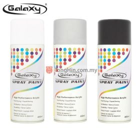 GALAXY Spray Paint 400ml - Black, Silver, White Colour