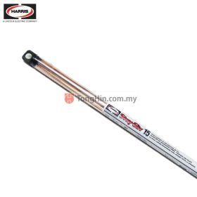 "HARRIS STAY-SILV 15 Copper Brazing Rod Flat Filler Rod 51 Stick Tube 0.050"" x 1/16"" x 20"""