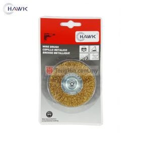 "HAWK Brass Steel Wheel Brush 3"" x 6mm Shank"