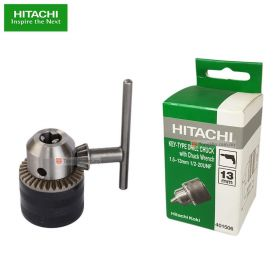 "HITACHI 401506 Keyed Drill Chuck Adaptor 13mm (1/2"" x 20 UNF) with Chuck Wrench"