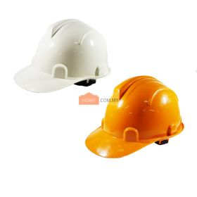 Industrial Grade Safety Helmet - White and Orange