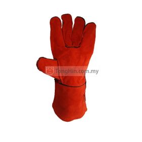Industrial Grade Red Welding Hand Glove 13 inch