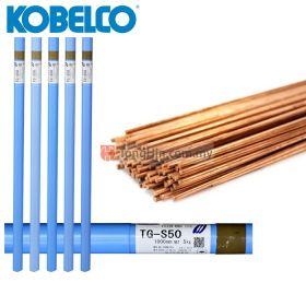 KOBELCO TGS50 Familiarc TIG Welding Mild Steel Electrode Filler Rod 2.4mm/3.2mm x 1 meter (5kg)