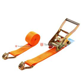 Cargo Ratchet Lashing System Tie Down Straps with Double J Hooks 5 Tons x 9 Meters