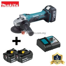 MAKITA DGA402RFE 18V Cordless Angle Grinder 100mm (4 inch) with 3.0Ah Battery & Charger