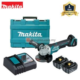 "MAKITA DGA404RFE 18V Cordless Brushless Angle Grinder 100mm (4"") with 3.0Ah Battery & Charger"
