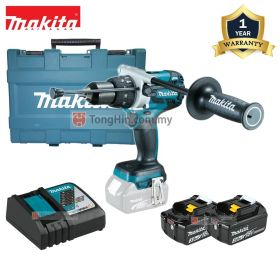 "MAKITA DHP481RFE 18V Cordless Hammer Driver Drill 13mm (1/2"") with 3.0Ah Battery and Charger"