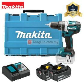 MAKITA DHP482RFE 18V Cordless Brushless Hammer Driver Drill 13mm (1/2 inch) with 3.0Ah Battery & Charger