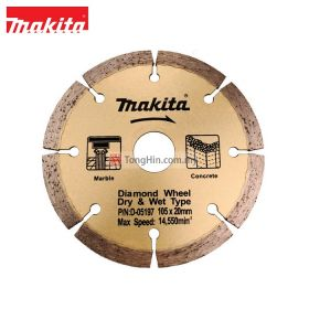 "MAKITA D-06197 4-1/8"" Diamond Wheel Dry & Wet 105 x 20mm"