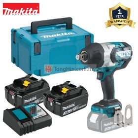 MAKITA DTW1001RFJ 18V Cordless Impact Wrench 19mm (3/4 inch) with 3.0Ah Battery & Charger