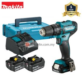 "MAKITA HP333DNX10 12V Max Cordless Hammer Driver Drill 10mm (3/8"") with 5.0Ah Battery and Charger"