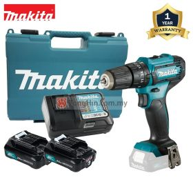"MAKITA HP333DWAE 12V Max Cordless Hammer Driver Drill 10mm (3/8"") with 2.0Ah Battery and Charger"