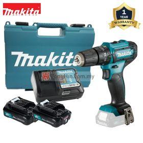 "MAKITA HP333DWAE 12V Max Cordless Hammer Driver Drill 10mm (3/8"") with 2.0Ah Battery and Charger"