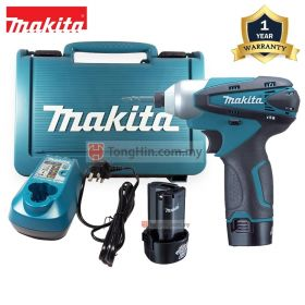 MAKITA TD090DWE 10.8V Cordless Impact Driver with 1.3Ah Battery and Charger