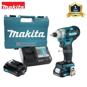 "MAKITA TD111DWYE 12V Max Cordless Impact Driver 1/2"" with 2.0Ah Battery and Charger"