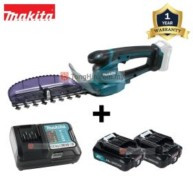 "MAKITA UH201DWAX 12V Max Cordless Hedge Trimmer with Grass Shear 200mm (7-7/8"") with 2.0AH Battery and Charger"
