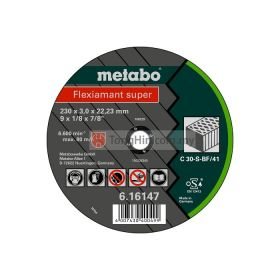 "METABO 7"" Cut-Off Disc 180 x 3.0 x 22.23mm Stone Flexiament Super 6.16143.000"