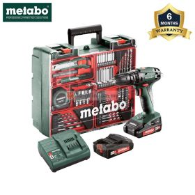 METABO SB18 SET Cordless Hammer Drill with 18V 2.0Ah Battery and Charger 602245880