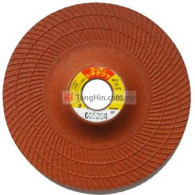 4'' Nippon Resibon Orange Flexible Disc (105 x 3 x 16mm #80)