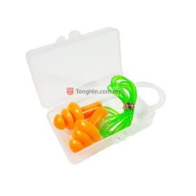 Orange Reusable Corded Earplug Noise Reduction Ear Protection with Case