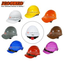 PROGUARD HG1-WHG3RS SIRIM Advantage 1 Safety Helmet with Ratchet System Webbing Harness (White, Yellow, Blue, Brown, Grey, Orange, Purple, Red)