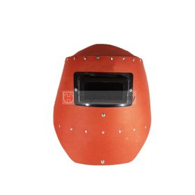 Industrial Grade Welding Hand Shield Red Fibre with Lens
