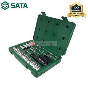 """SATA 09001 25 Pieces Dr. Socket Tool Box Set 1/4"""""""