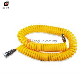 SHPI Yellow Coil Hose 7.5m