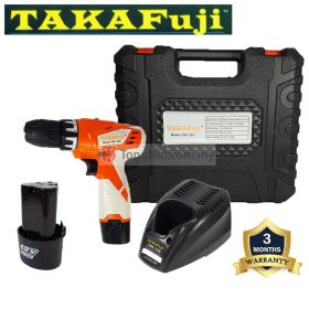TAKAFuji TKF-12V Cordless Driver Drill 10mm 3/8 with Battery &Charger