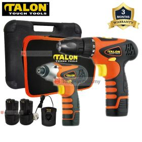 TALON 12V Combo Kit Cordless Impact Driver TD7917 + Cordless Driver Drill TD9189 with Charger and Battery