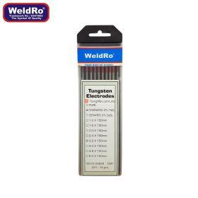 """WELDRO Tungsten Electrode 3.2mm x 150mm / 1/8"""" x 6"""" (10 pieces)"""