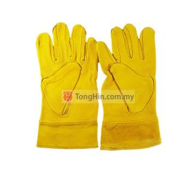 Yellow Argon Welding Hand Glove 10.5""