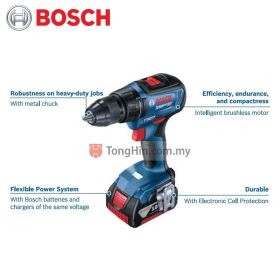 BOSCH GSB 18V-50 Professional Cordless Combi 06019H51L0 with 2.0Ah Battery and Charger