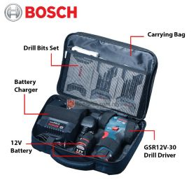 BOSCH GSR 12V-30 Brushless Cordless Drill Driver with 2.0Ah Battery & Charger 06019G90L1