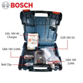 BOSCH GSR 18V-50 Cordless Drill Driver 13mm with 2.0AH Battery and Charger