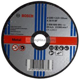 4'' Bosch Cutting Disc 2608 600 091 (100 x 2.5 x 16 mm A30RBF)