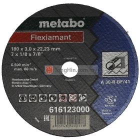 7'' Metabo Cutting Disc 16123 (180 x 3.0 x 22.23 mm A30RBF/41) (For Steel)